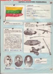 Lietuvos istorija 5 klasei 23 puslapis nemokami pratybų atsakymai