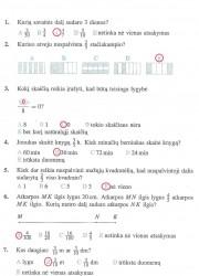 Matematika ir pasaulis 2 dalis 15 puslapis nemokami pratybų atsakymai