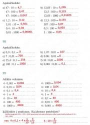 Matematika ir pasaulis 2 dalis 44 puslapis nemokami pratybų atsakymai