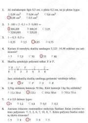 Matematika ir pasaulis 2 dalis 50 puslapis nemokami pratybų atsakymai