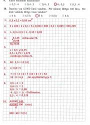 Matematika ir pasaulis 2 dalis 51 puslapis nemokami pratybų atsakymai