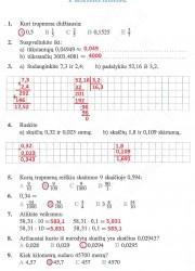 Matematika ir pasaulis 2 dalis 60 puslapis nemokami pratybų atsakymai