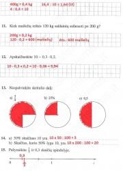 Matematika ir pasaulis 2 dalis 61 puslapis nemokami pratybų atsakymai