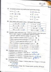 Matematika tau 5 klasei 2 dalis 5 puslapis nemokami pratybų atsakymai