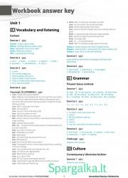 Solutions (Intermediate workbook) 1 page nemokami pratybų atsakymai